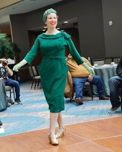 Modeling Saint Savoy shoes at the ILHC fashion show.