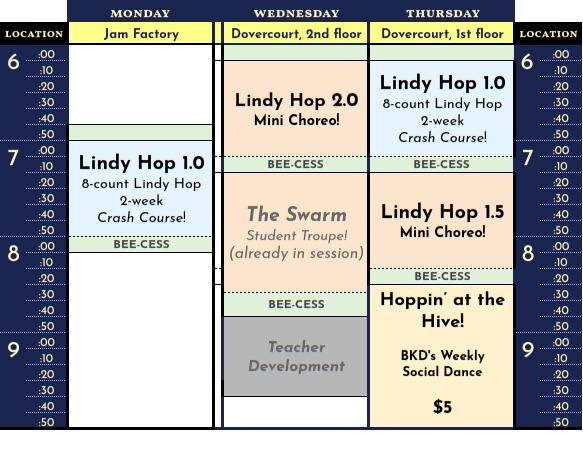 Schedule for Dec 2019