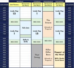 2018 Winter Class Schedule